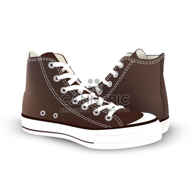 pair of new sneakers vector illustration - Free vector #134862