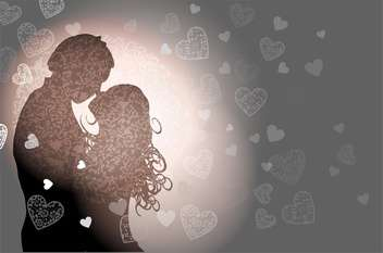 valentine's background with couple in love - vector #134912 gratis