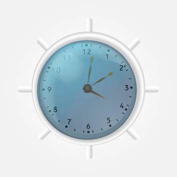 office white clock illustration - vector #134942 gratis