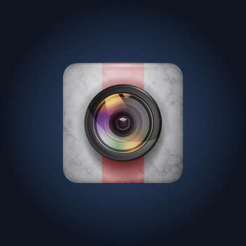 photo camera icon background - vector #134952 gratis