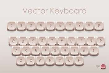 vector keyboard keys illustration - бесплатный vector #134972