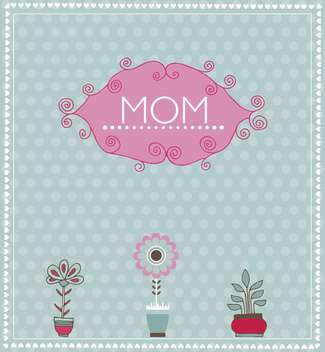 greeting card for mother's day with spring flowers - vector gratuit #135062