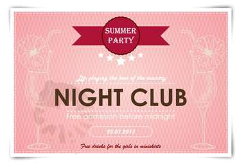 artistic poster for event in night club - vector #135152 gratis