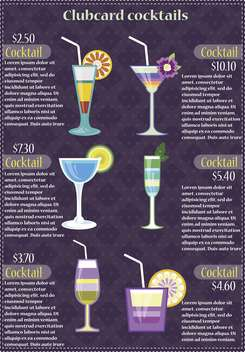 alcohol cocktail club card vector illustration - бесплатный vector #135162