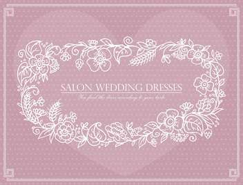 label for wedding dresses salon - vector gratuit #135182