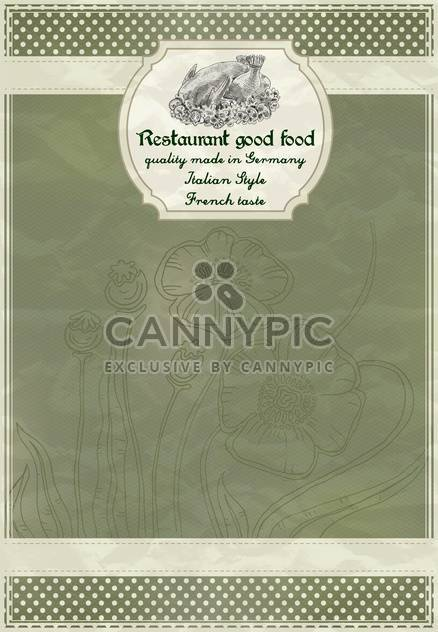 restaurant menu design in retro style - Free vector #135242